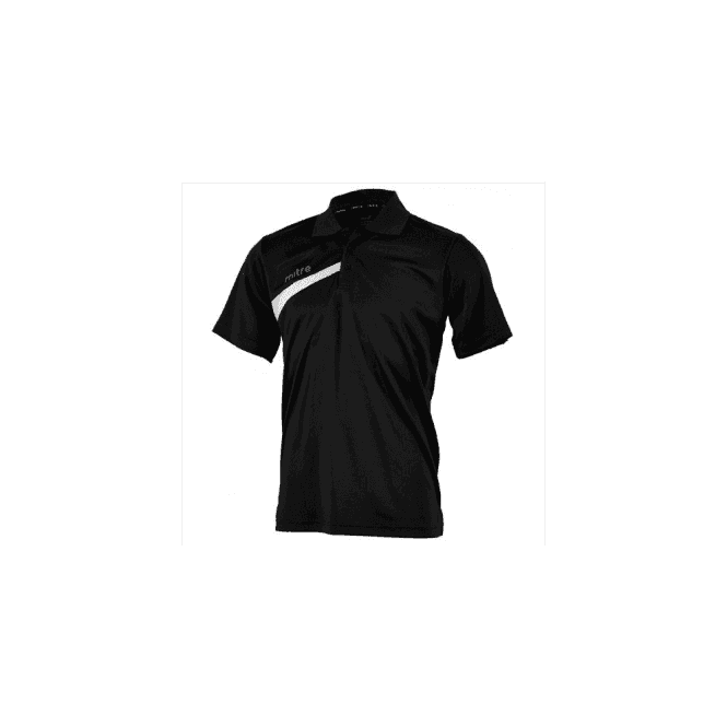 Mitre Polarize Polo Shirt Black/White