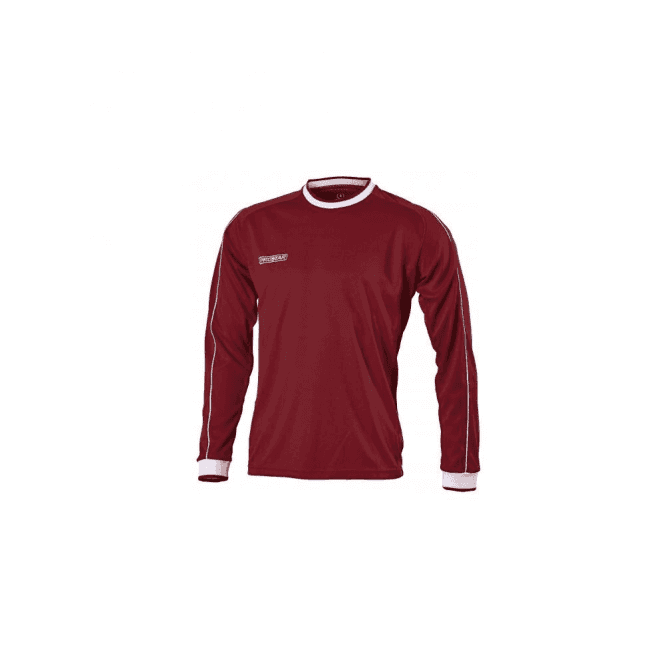 Prostar Celsius Jersey LS Maroon/White