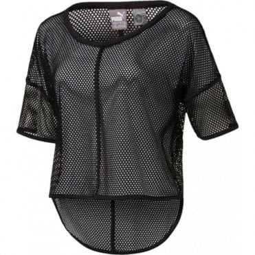 Active Training Women's Explosive Mesh Top Black