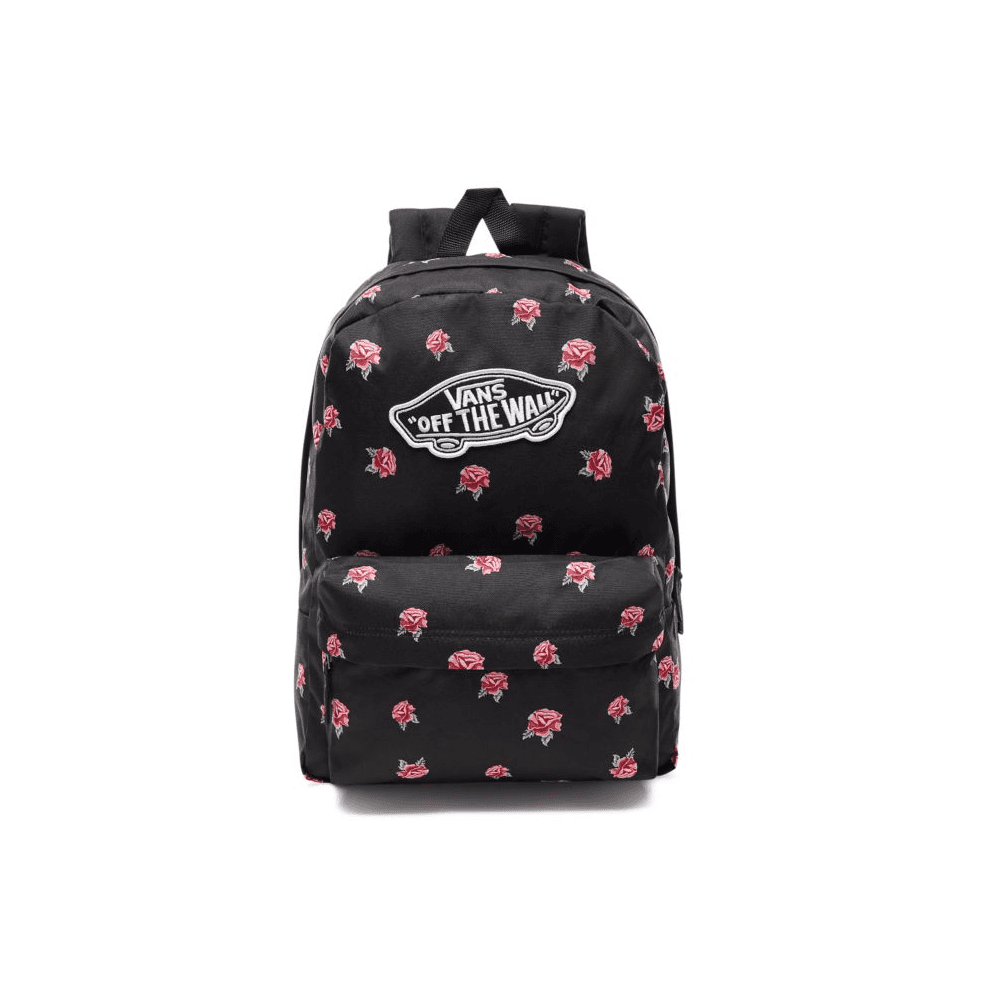 804d4e8d52 Vans Realm Backpack Black Rose