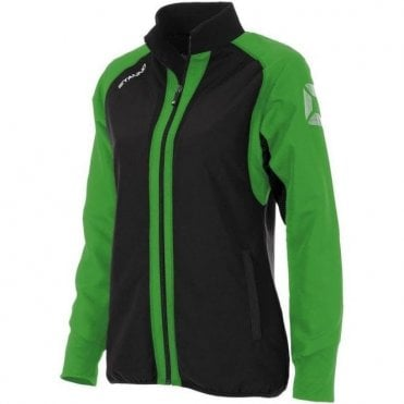 RIVA MICRO JACKET LADIES GREEN/BLACK (PRICE BASED ON A MINIMUM BUY OF 6 PIECES)