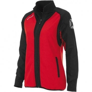 RIVA MICRO JACKET LADIES RED/BLACK (PRICE BASED ON A MINIMUM BUY OF 6 PIECES)