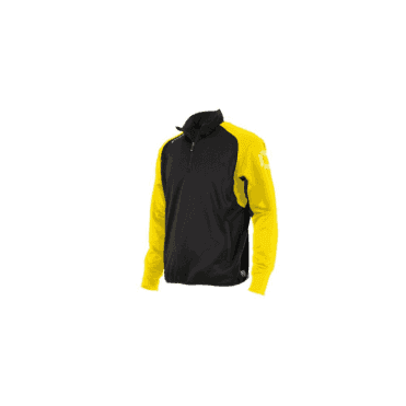 RIVA TOP QUARTER ZIP BLACK/YELLOW (PRICE BASED ON A MINIMUM BUY OF 6 PIECES)