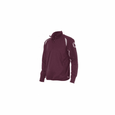 RIVA TOP QUARTER ZIP MAROON/WHITE (PRICE BASED ON A MINIMUM BUY OF 6 PIECES)