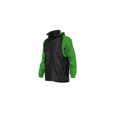 CENTRO WINDBREAKER BLACK/GREEN (PRICE BASED ON A MINIMUM BUY OF 6 PIECES)