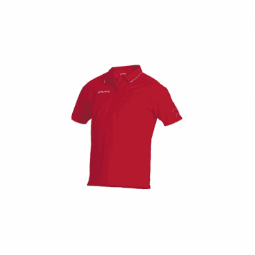 CLIMATEC POLO RED/WHITE (PRICE BASED ON A MINIMUM BUY OF 6 PIECES)