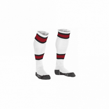 LEAGUE SOCK WHITE/RED/BLACK
