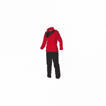 MONTREAL MICRO TRACKSUIT LADIES RED/BLACK (PRICE BASED ON A MINIMUM BUY OF 6 PIECES)