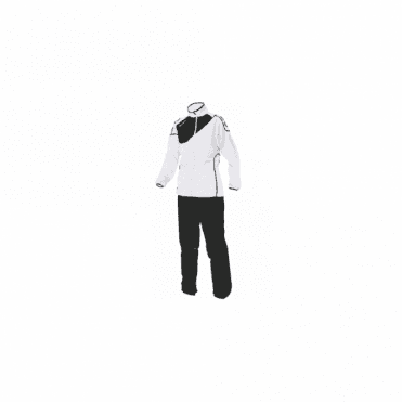 MONTREAL MICRO TRACKSUIT LADIES WHITE/BLACK (PRICE BASED ON A MINIMUM BUY OF 6 PIECES)