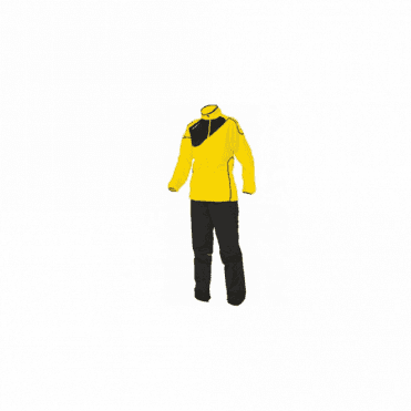 MONTREAL MICRO TRACKSUIT LADIES YELLOW/BLACK (PRICE BASED ON A MINIMUM BUY OF 6 PIECES)