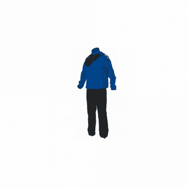MONTREAL MICRO TRACKSUIT ROYAL/BLACK(PRICE BASED ON A MINIMUM BUY OF 6 PIECES)