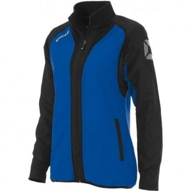 RIVA MICRO JACKET LADIES ROYAL/BLACK (PRICE BASED ON A MINIMUM BUY OF 6 PIECES)