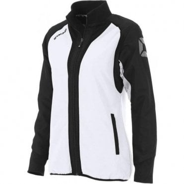 RIVA MICRO JACKET LADIES WHITE/BLACK (PRICE BASED ON A MINIMUM BUY OF 6 PIECES)