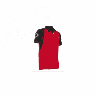 RIVA POLO SHIRT RED/BLACK (PRICE BASED ON A MINIMUM BUY OF 6 PIECES)