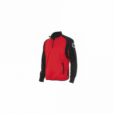 RIVA TOP QUARTER ZIP RED/BLACK (PRICE BASED ON A MINIMUM BUY OF 6 PIECES)