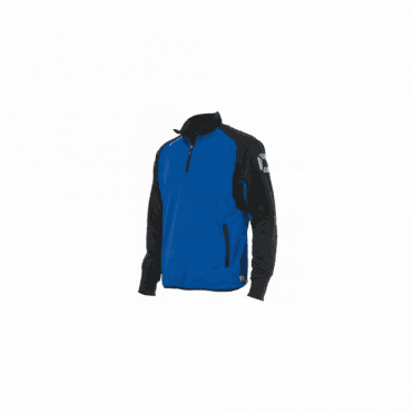 RIVA TOP QUARTER ZIP ROYAL/BLACK (PRICE BASED ON A MINIMUM BUY OF 6 PIECES)