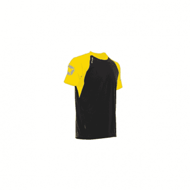 RIVA TSHIRT BLACK/YELLOW (Price based on a min buy of 6 pieces)