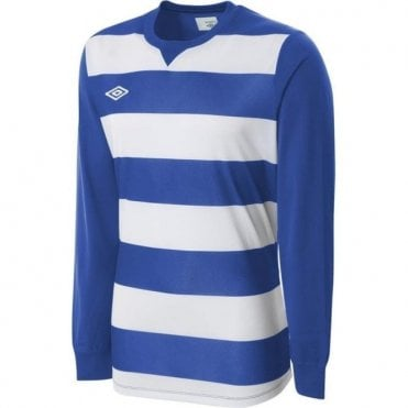 STRIPE JERSEY LS White and Blue