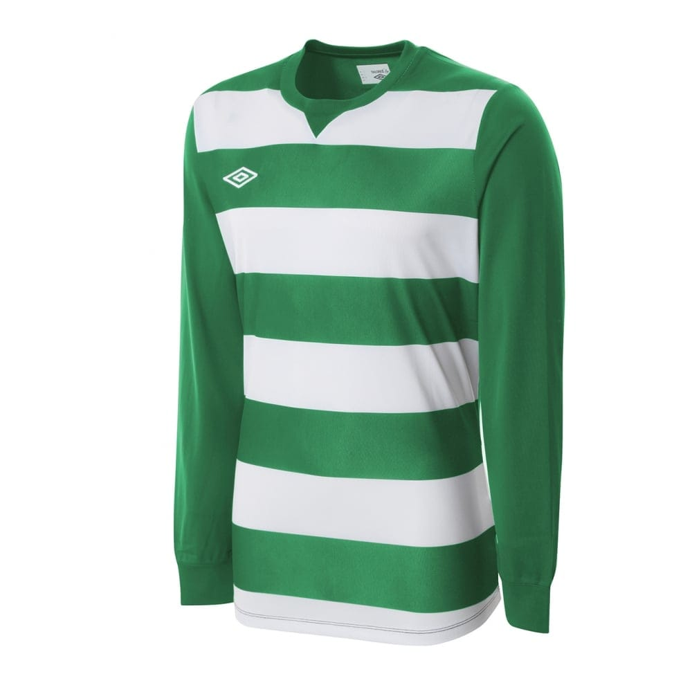 Umbro STRIPE JERSEY LS White and Green
