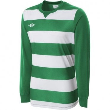 STRIPE JERSEY LS White and Green