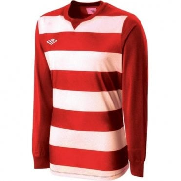 STRIPE JERSEY LS White and Red