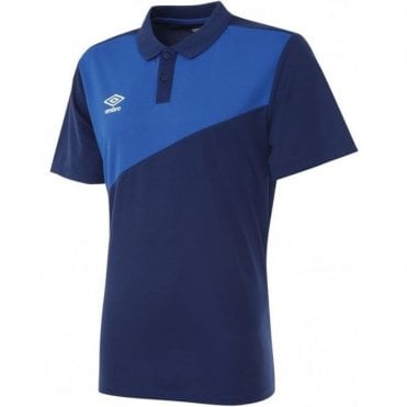 TRAVEL POLY POLO SS Navy Blue and Royal Blue