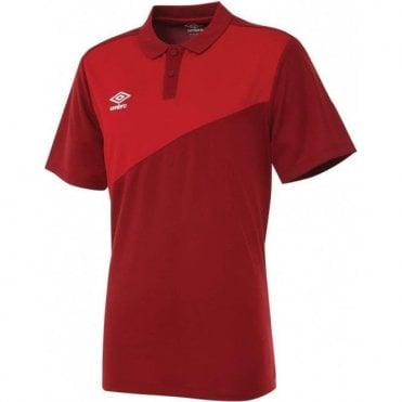 TRAVEL POLY POLO SS Red