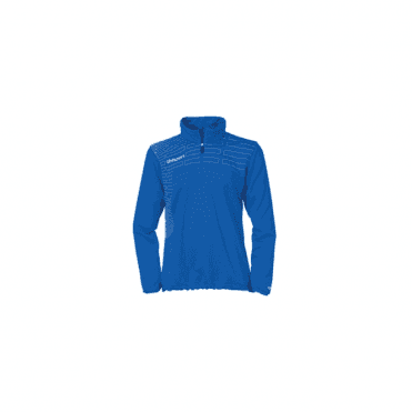 Match 1/4 Zip Top Azure Blue/White