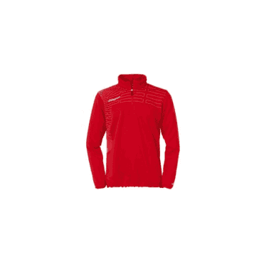 Match 1/4 Zip Top Red/White