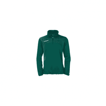 Match Women 1/4 Zip Top Lagoon Green/White