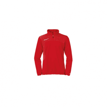 Match Women 1/4 Zip Top Red/White
