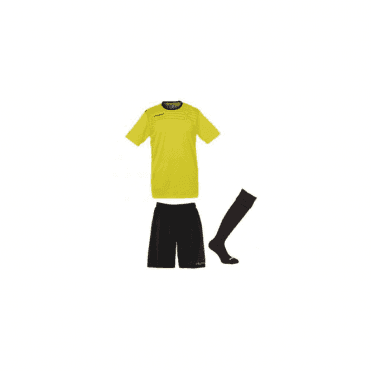 Uhlsport Match Team Kit SS Lime Yellow/Black
