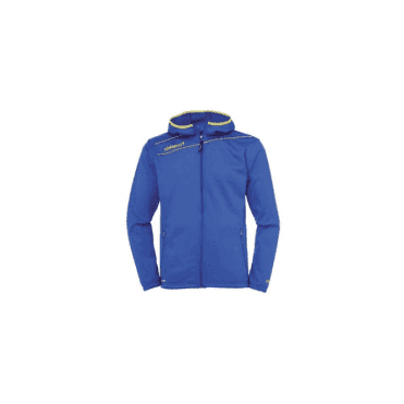 Uhlsport Stream 3.0 Hooded Jacket Azure Blue/Yellow