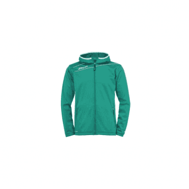 Uhlsport Stream 3.0 Hooded Jacket Lagoon Green/White