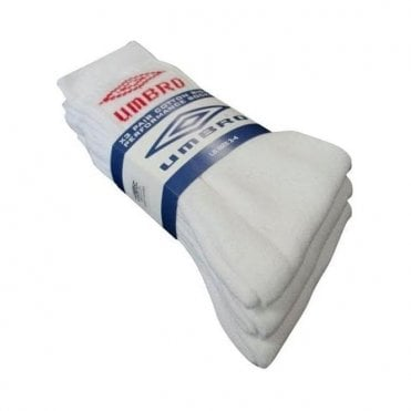 3 Pack Socks White