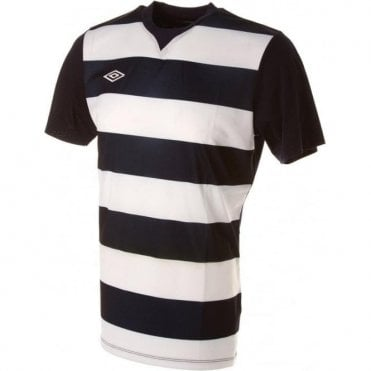 LEAGUE HOOPED JERSEY LS Black and White