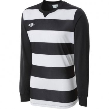 STRIPE JERSEY LS White and Black