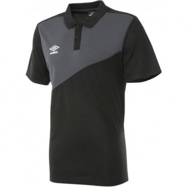 TRAVEL POLY POLO SS Royal Black And Grey
