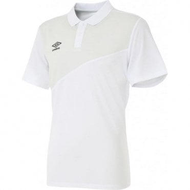 TRAVEL POLY POLO SS White