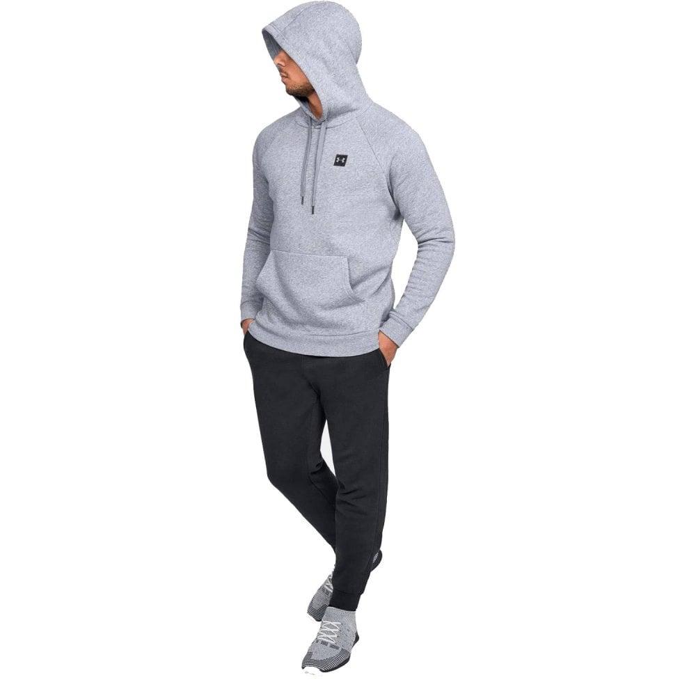 mens gray under armour hoodie