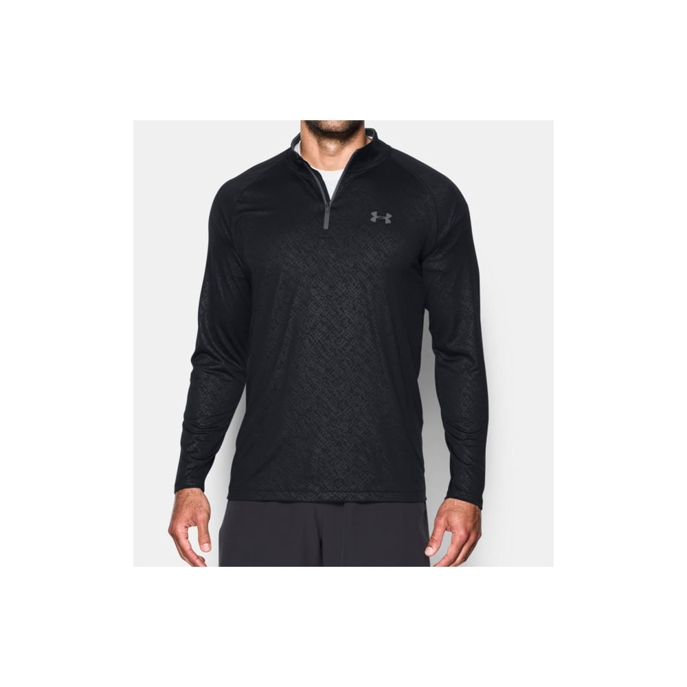 Ua tech embossed zip men 39 s clothing for Under armour men s shirts clearance
