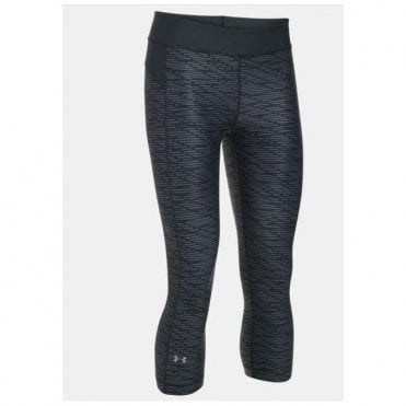Women's HeatGear® Armour Printed Capri Black