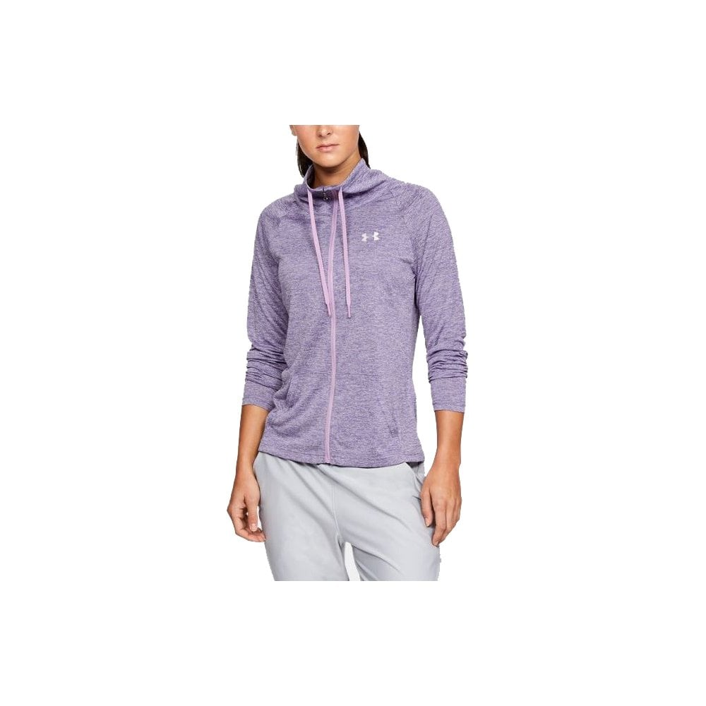533711e2 UA Women's Tech Twist Full Zip Purple | BMC Sports
