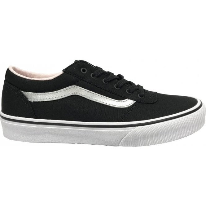 Vans Girls Maddie Canvas Black/Silver