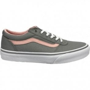 Girls Maddie Canvas Grey/Pink