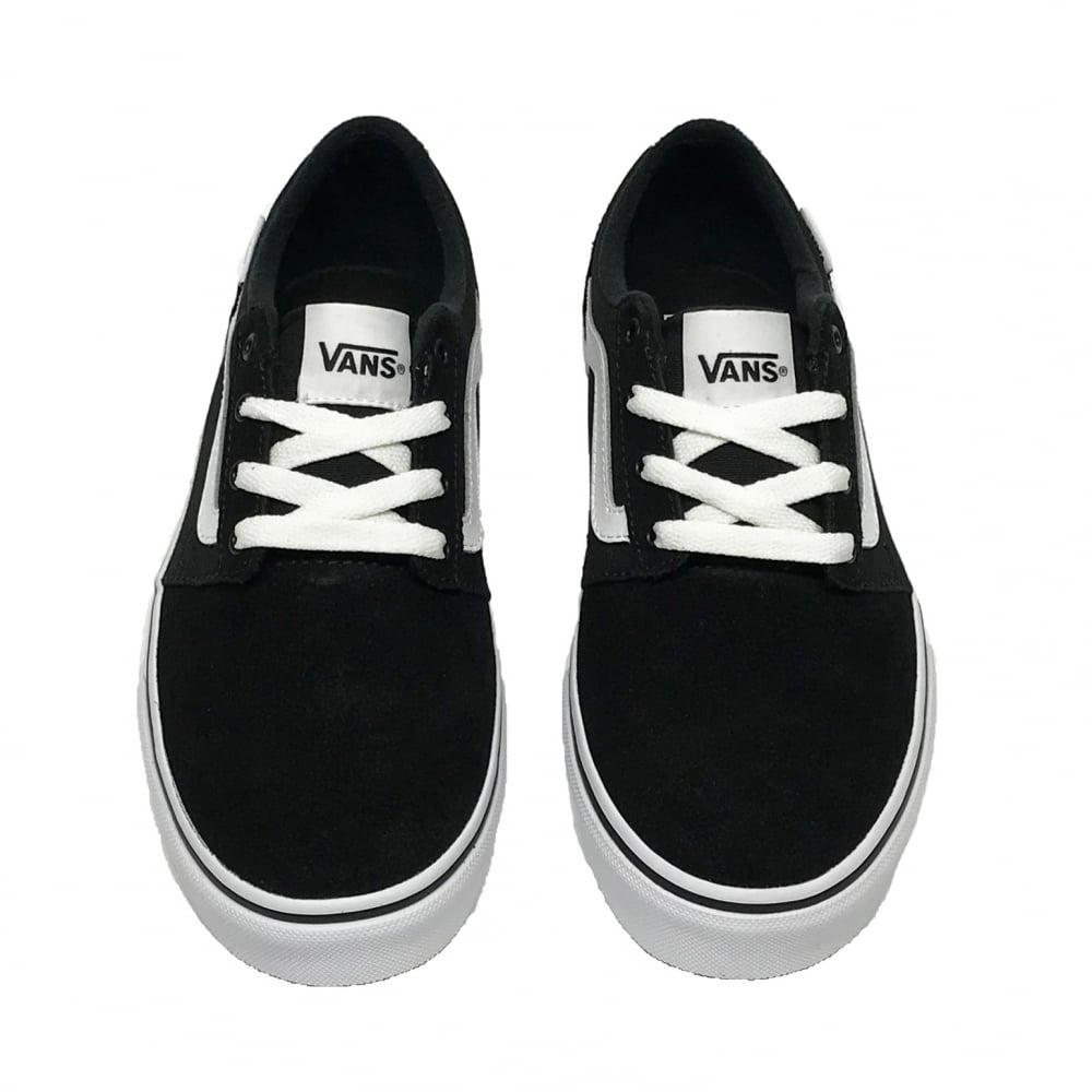 3f238872c2f Vans Kids Chapman Stripe Suede Canvas Black