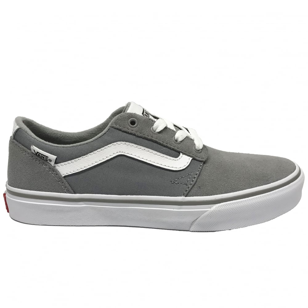ee884220dd Vans Kids Chapman Stripe Suede Canvas Grey