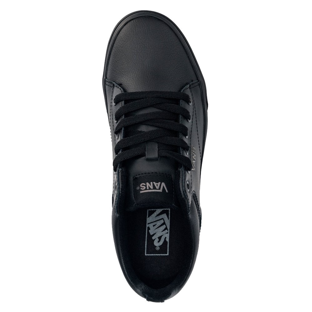 Vans Mens Seldan Tumble Leather Black