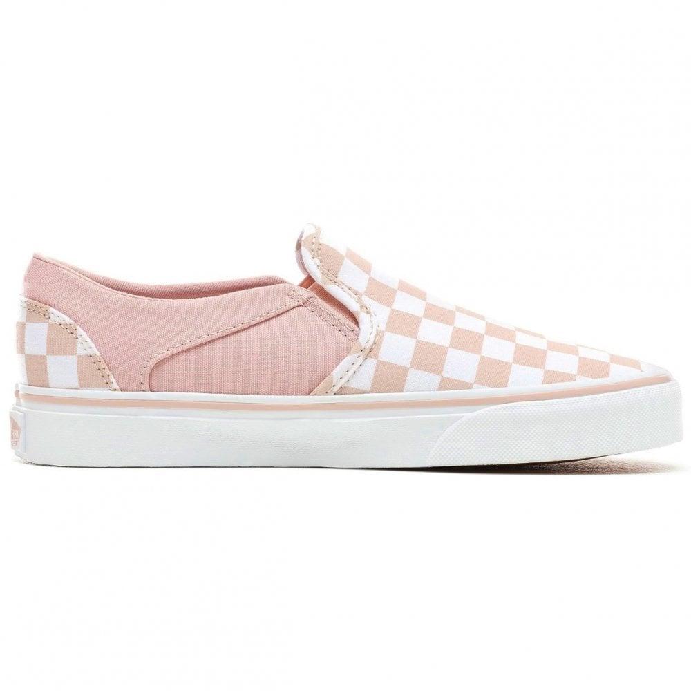 sleek professional sale store Women's Asher Slip-On Checkerboard Pink