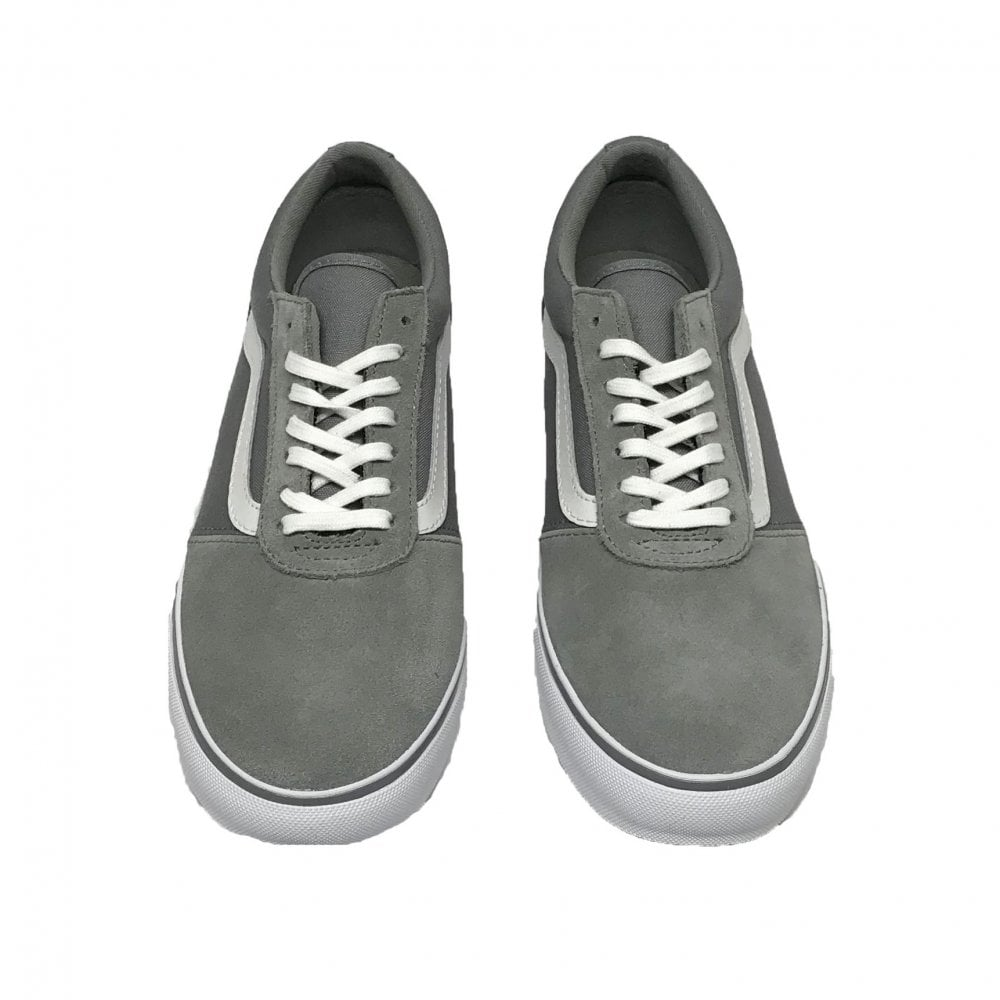 6234b2da9d30ab Vans Women s Maddie Canvas Suede Grey